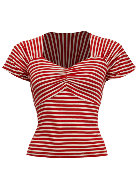 Sweetheart Top - red stripe