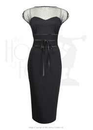 50s Gina Wiggle Dress - Black
