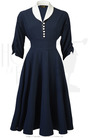 1950s Connie Swing Dress - Navy