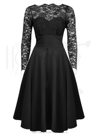 1960s Bardot Swing Dress - Black