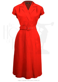 40s Gracie Wrap Dress - Red